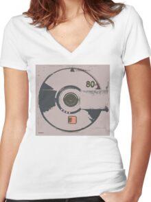 Minidisc RIP Women's Fitted V-Neck T-Shirt