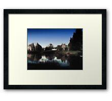 Blue Reflection Framed Print