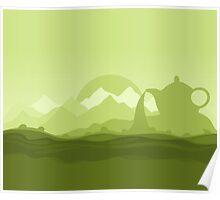 Tea landscape Poster