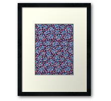 Korean Chrysanthemum & Cherry Blossom - Purple Framed Print