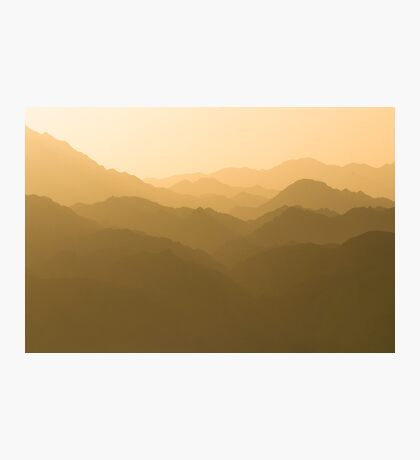 Mountains in Jordan Photographic Print