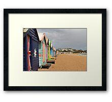 Bathing Boxes Framed Print