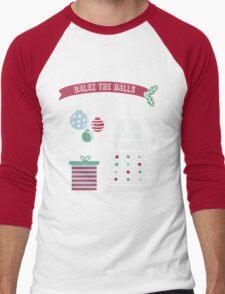 """""""Dalek the halls"""" Christmas Design Men's Baseball ¾ T-Shirt"""