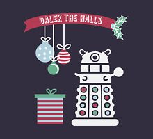 """Dalek the halls"" Christmas Design Womens Fitted T-Shirt"