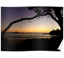 First light ~ Seal Rocks, NSW Poster