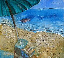 Beach, Sun, Umbrella, Holidays. by IvonaTorovin