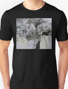 spring storm over the yard Unisex T-Shirt