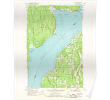USGS Topo Map Washington State WA Lofall 242029 1953 24000 Poster