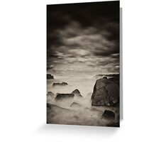where the sky meets the sea Greeting Card
