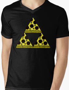 Pizza Triforce In Color Mens V-Neck T-Shirt