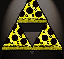 Pizza Triforce In Color by SocialRemark