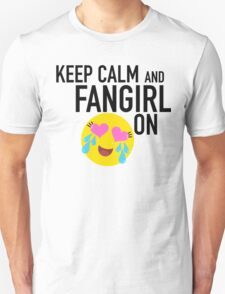 Keep Calm and Fangirl in Black Unisex T-Shirt