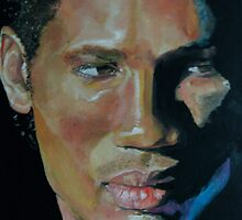 Didier Drogba, with blue powder by Michele Fazakerley