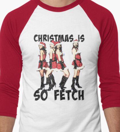 Christmas Is So Fetch Men's Baseball ¾ T-Shirt