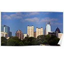 Downtown Atlanta from Piedmont Park Poster
