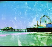 Blue Santa Monica Pier by stine1