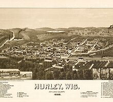 Panoramic Maps Hurley Wis Ashland County 1886 by wetdryvac