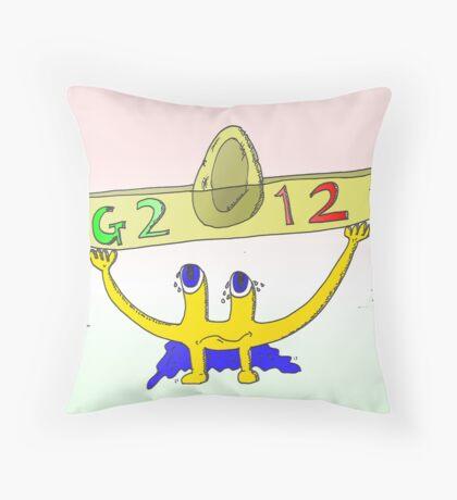 Euroman le star du G2012 au Mexique Throw Pillow
