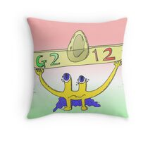 binary options news caricature of the G2012 sombrero summit Throw Pillow