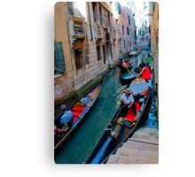 Colorful gondolas  Canvas Print