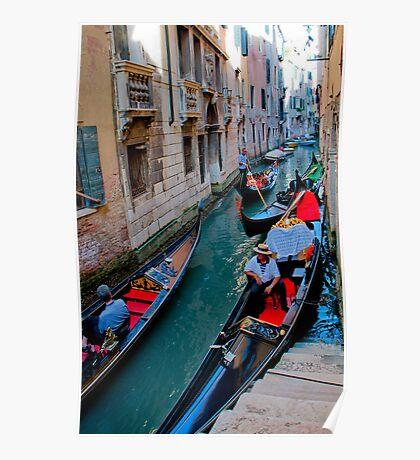 Colorful gondolas  Poster