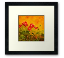Red poppies Framed Print
