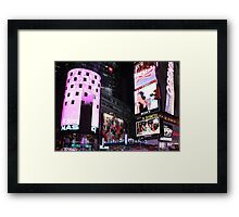 Times Square in New York City (pink) Framed Print