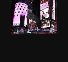 Times Square in New York City (pink) Womens Fitted T-Shirt