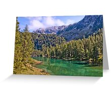 Crystal clear lake in Engadine Greeting Card