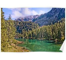 Crystal clear lake in Engadine Poster