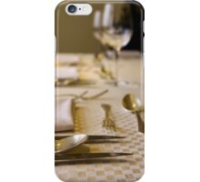 Atmospheric image of a Festive table setting for a formal dinner  iPhone Case/Skin
