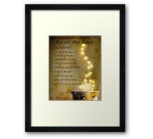 Recipe for Love Framed Print