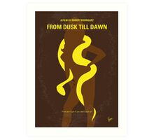 No127 My FROM DUSK TILL DAWN minimal movie poster Art Print