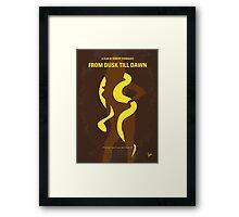 No127 My FROM DUSK TILL DAWN minimal movie poster Framed Print