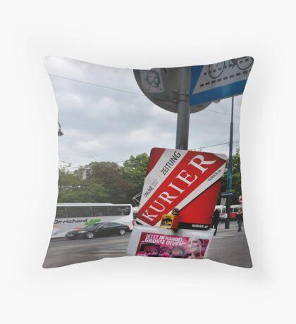 Newspaper&Moneybox Throw Pillow