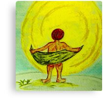 Toweling at the Moon Canvas Print