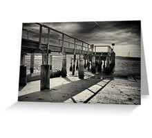 Shoal bay pier hdr Greeting Card