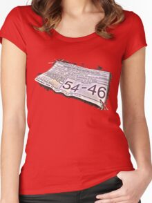 54-46 Was My Number Women's Fitted Scoop T-Shirt