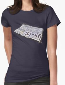 54-46 Was My Number Womens Fitted T-Shirt