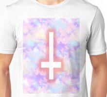 Pastel Upside-Down Cross  Unisex T-Shirt