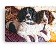 Benson and Jess - best friends Canvas Print
