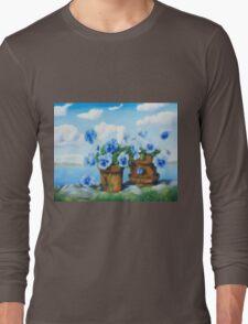 Violets on the beach Long Sleeve T-Shirt
