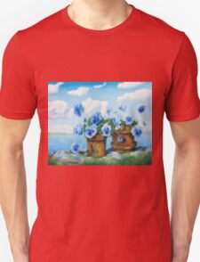 Violets on the beach Unisex T-Shirt