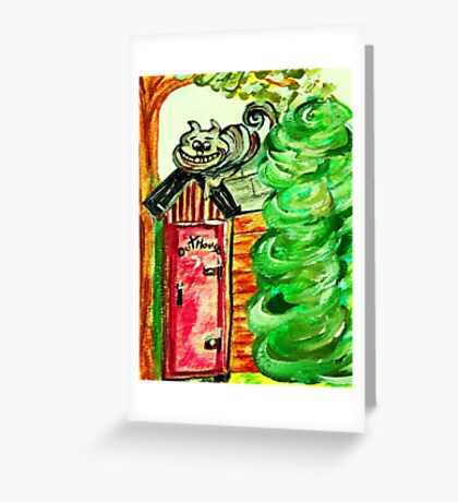 Outhouse Sentinel Greeting Card