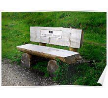 Little Wooden Bench Poster