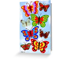 8 BUTTERFLY'S - BRUSH AND GOUACHE Greeting Card