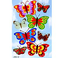 8 BUTTERFLY'S - BRUSH AND GOUACHE Photographic Print