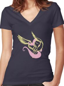 Fluttershy by Up1ter Women's Fitted V-Neck T-Shirt