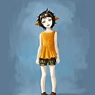 Girl in Shorts by freeminds