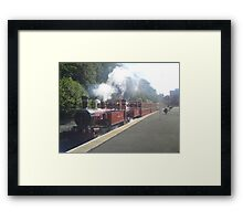 Double Header of Steam Framed Print